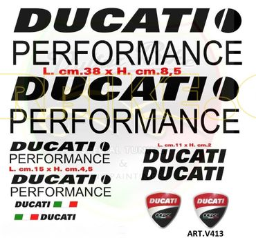 "stickers ""Ducati Performance noir"" pour Ducati"