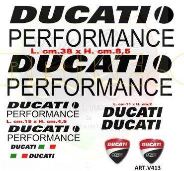 """Aufkleber """"Ducati Performance schwarz"""" für Ducati"""