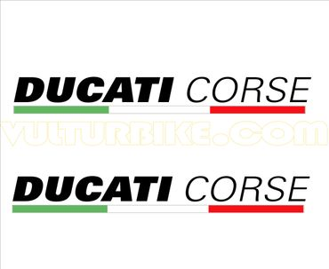 "sticker ""Ducati Corse"" black for Ducati – Image 1"