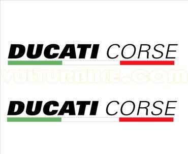 """adesivi """"Ducati Corse"""" nero per Ducati – Image 1"""