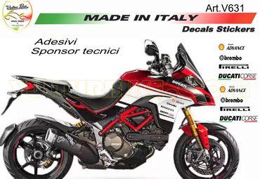 """stickers """"sponsors"""" noir pour Ducati"""