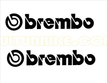 "sticker ""brembo"" black for Ducati"