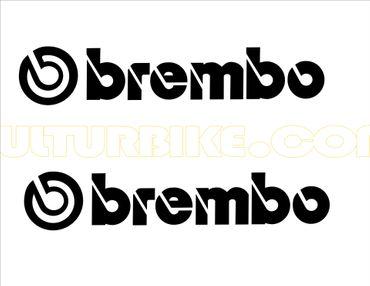 """stickers """"brembo"""" noir pour Ducati"""
