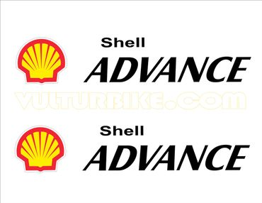 "adesivi ""Shell-ADVANCE"" nero per Ducati"