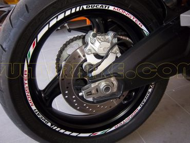 "decal sticker kit wheel stripes ""Ducati Monster"" for Ducati Monster – Image 1"