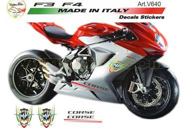 "Sticker kit ""Corse"" pour rouge MV Agusta F3 / F4"