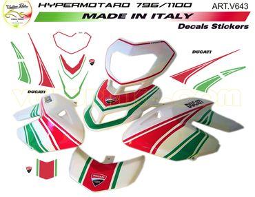 "Aufkleber Kit ""Tricolore"" für Ducati Hypermotard 796 / 1100"