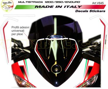 Sticker Coupe-vent blanc/rouge pour Ducati Multistrada 1200 / 950 – Image 1