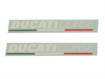 "sticker ""Ducati Corse"" white for Ducati"