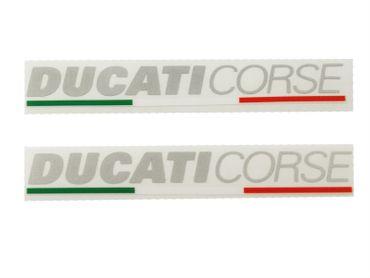 """stickers """"Ducati Corse"""" métal-argenté pour Ducati"""