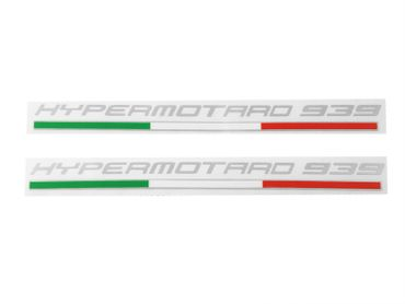 "Stickers ""Hypermotard"" silver-metal for Ducati Hypermotard 939"