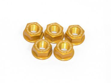 sprocket flange nut M10 x 1.25 gold Ducabike for Ducati Hypermotard, Multistrada