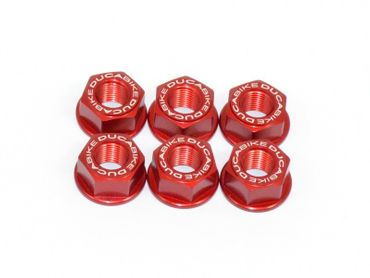 sprocket flange nut M10 x 1.25 red Ducabike for Ducati Multistrada 620