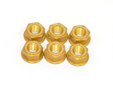 sprocket flange nut M10 x 1.25 gold Ducabike for Ducati Monster, Supersport