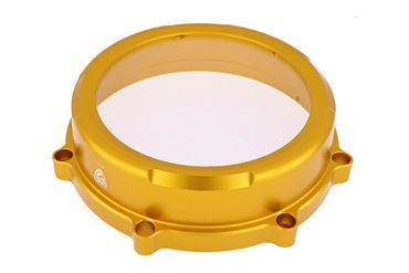 Clutch cover Clear for dry clutch gold CNC Racing for Ducati Monster 1100 / Hypermotard 1100 – Image 1