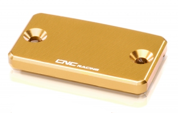 "clutch fluid reservoir cover ""Streaks"" gold  CNC Racing for Ducati  – Image 1"
