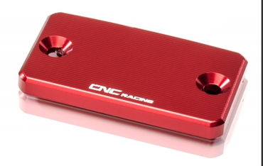 "clutch fluid reservoir cover ""Streaks"" red CNC Racing for Ducati  – Image 1"