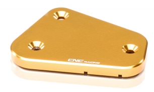 "clutch fluid reservoir cover ""Streaks"" gold CNC Racing for Ducati Multistrada, Streetfighter, Sport Touring – Image 1"