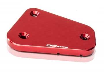 "clutch fluid reservoir cover ""Streaks"" red CNC Racing for Ducati Multistrada, Streetfighter, Sport Touring – Image 1"