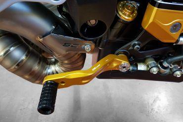 leva del cambio / leva del freno a pedale oro CNC Racing per MV Agusta Brutale, Dragster – Image 3