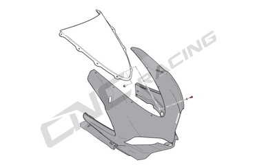 Set di viti per disco di carenatura nero CNC Racing per Ducati 1098 1198 848, Panigale – Image 2