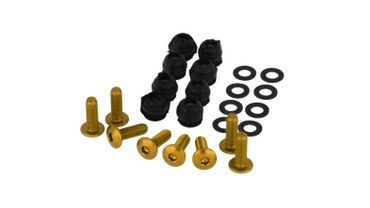 Screw set for fairing disc gold CNC Racing for MV Agusta F3, F4 – Image 1