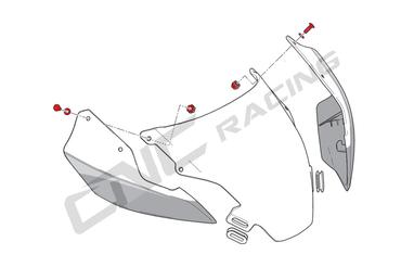 Jeu de vis pour disque de carénage rouge CNC Racing pour Ducati Panigale 899 / 1199 (2013-14) – Image 2