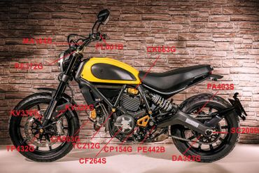 Lenker (original Form) 22mm gold CNC Racing für Ducati Scrambler – Bild 3