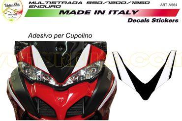 Aufkleber Kit Kanzel schwarz/weiss für Ducati Multistrada
