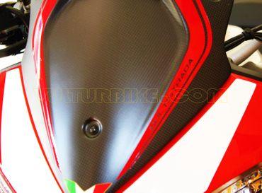 Aufkleber Carbon Windschutz rot für Ducati Multistrada – Bild 2