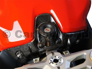key guard cover carbon for Ducati 899 959 1199 1299 Panigale – Image 2