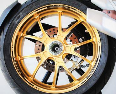 decal sticker kit wheel stripes black for Multistrada 1200/1260 – Image 1
