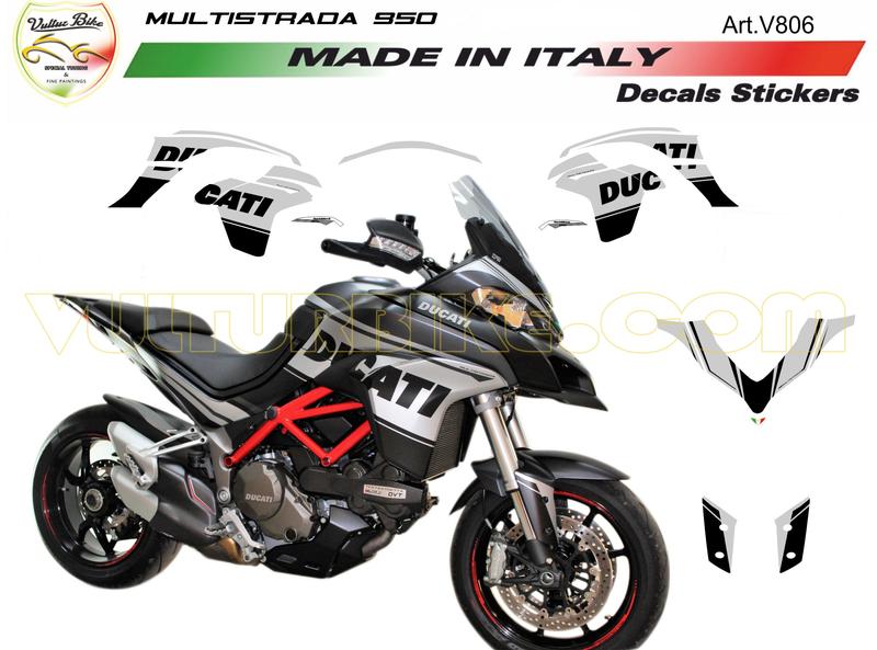 Sticker Kit Blacksiver Ducati For Ducati Multistrada 950 Carbonteile Und Carbon Zubehör Für Ducati Aprillia Suzuki Ktm Und Mv Agusta Sp