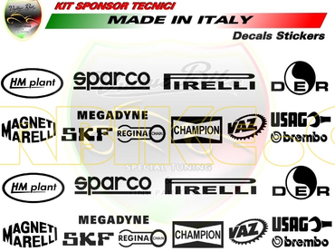 decal sticker technical sponsors black for Ducati