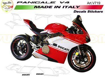 """V719 Aufkleber Kit """"Custom"""" für Ducati Panigale V4 – Bild 1"""