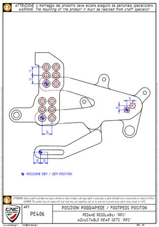 PE406PR Fußrastenanlage klappbar Pramac Racing CNC Racing Ducati Panigale V4 – Bild 11