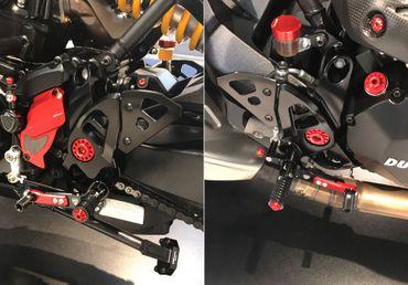 PE444B Fußrastenanlage CNC Racing für Ducati Supersport 939, Monster – Bild 2