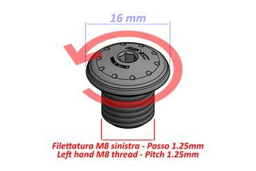 MRA14 Sealing plug Mirror holder M8 left-hand thread CNC Racing for Ducati – Image 3