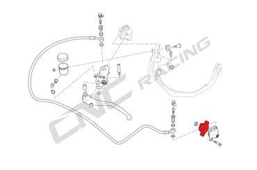 AFA02 Aufnahme für Kupplungsnehmerzylinder CNC Racing Ducati Multistrada 1260 – Bild 9