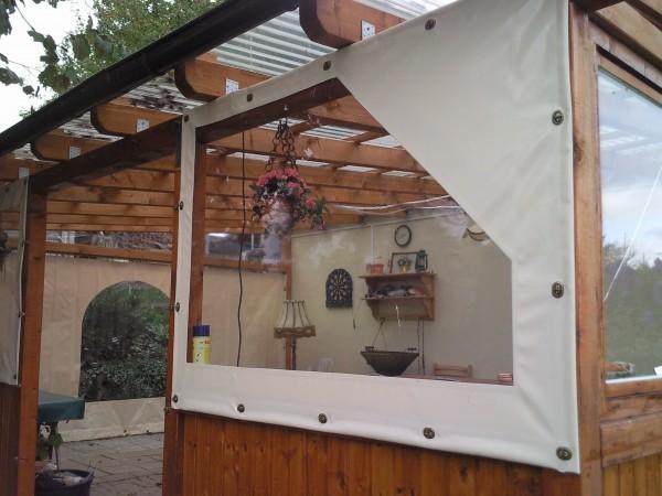 Plane Für Terrasse fensterplane transparent 900 g m mit saum und ösen individuell