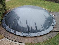 Aufblasbare Poolabdeckung Poolplane Rund 1300 g/m²
