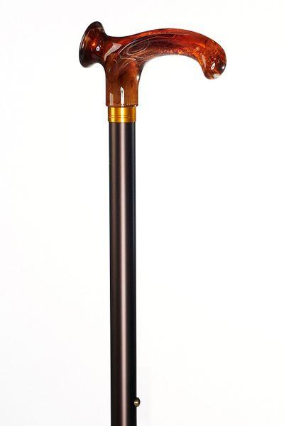 Relax Stock Bernstein mit bernsteinfarbenem Griff aus Acetat, bronze