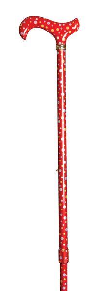 Gehstock PETTICOAT, eleganter Derbygriff aus stabilem Gießharz, aufgesetzt auf einen Stock aus stabilem Leichtmetall mit peppigem Design, höhenverstellbar, inklusiv Schlankpuffer. – Bild 2
