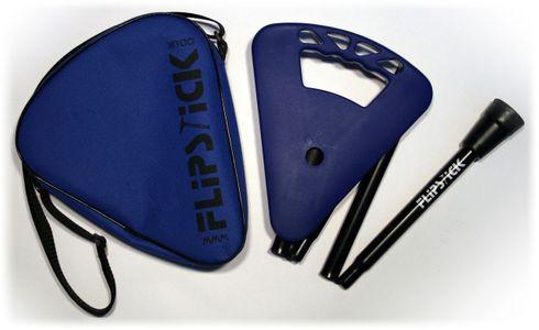 GehstockFLIPSTICK Sitzstock,navy-blau und elegant, kurz, höhenverstellbar,faltbar, aus stabilem Leichtmetall,Spezial Klappsitz/Griff,inklusive Gummipuffer und praktischer Nylontasche.