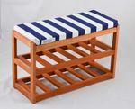 Pouf Sitzhocker Multi Purpose Kamelhocker Holz Puffs Blau 001