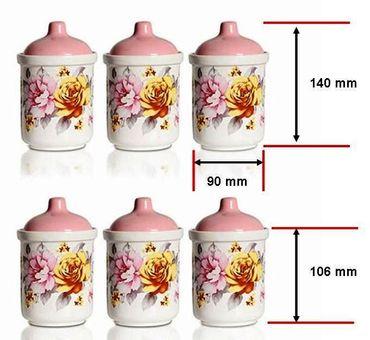 6 teilige Gewürzstreuer Set aus Keramik Gesundwürzen – Bild 3