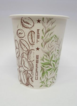 1000Stück Kaffeebecher Hartpapierbecher Pappe Becher Pappbecher 180ml Coffee/Tea – Bild 1