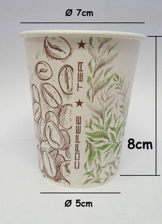 3000Stück Kaffeebecher Hartpapierbecher Pappe Becher Pappbecher 180ml Coffee/Tea – Bild 2