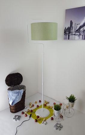 Stehlampe Standleuchte Stehleuchte Stativlampe Deckenfluter Weiß Metall Standfuß – Bild 13