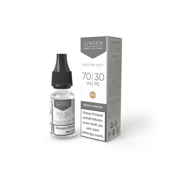LYNDEN - Nikotin Shots 20 mg VPG 70/30